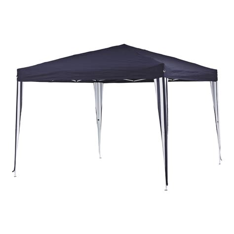 easy up pavillon marquee 3m easy up non permanent navy polyester gazebo