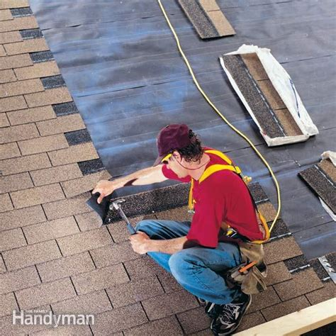 cutting cedar shingles to roof angle how to install shingles the family handyman