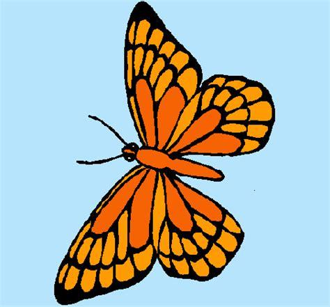 imagenes de mariposas monarcas para colorear dibujo de mariposa pintado por monarca en dibujos net el