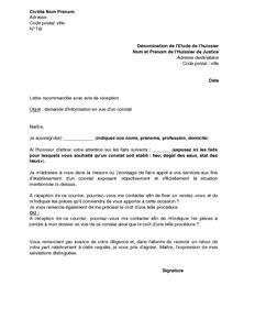Lettre officielle demande type lettre administrative