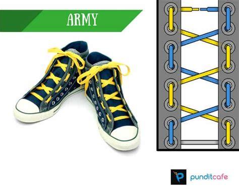 tutorial tali sepatu 4 lubang cara mengikat model tali sepatu yang keren unik dan gaul