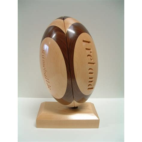 Handmade Trophies - handmade wooden sports trophy rugby