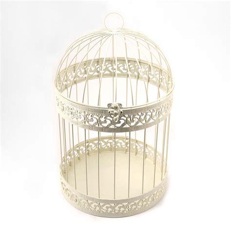 ivory birdcage spring wedding decoration wishing well card