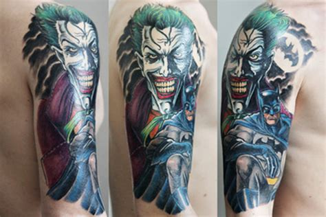 joker sleeve tattoo designs amazing batman and joker pic global news