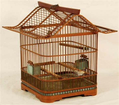 chinese wooden bird cage
