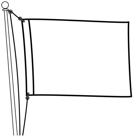 White Free - flag clipart black and white free clipartxtras