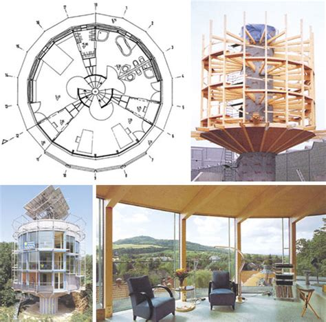Daylight Basement House Plans spinning solar powered round house rotates with the sun