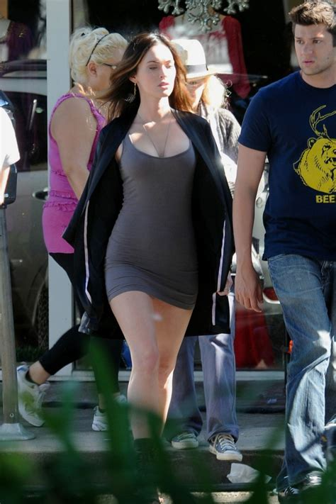Leslie Mann Detox Diet by Megan Fox Wearing A Form Hugging Mini Dress And Leslie