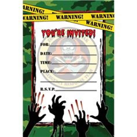 free printable zombie birthday invitations 1000 images about landon s birthday party on pinterest
