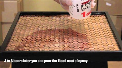 bar top epoxy made for outdoors best bar top penny tutorial youtube