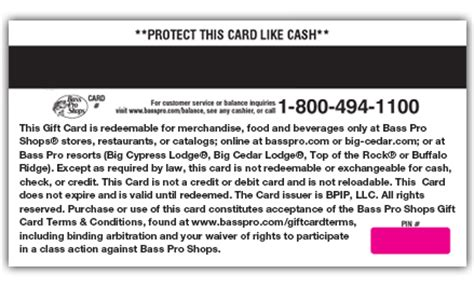 Gift Card Terms And Conditions - bass pro shops fishing hunting cing boating archery and more