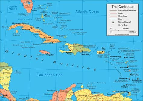 map of the us and caribbean antigua pier