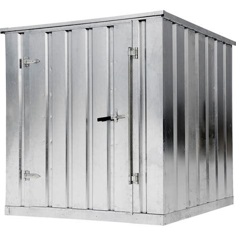 west galvanized storage building container kit  lb