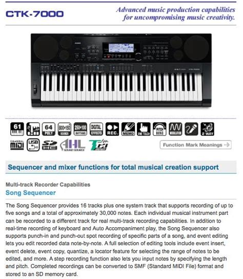 Keyboard Casio Ctk 7000 Bekas casio malaysia ctk 7000 electronic keyboard free stand 61 selangor end time 1 16