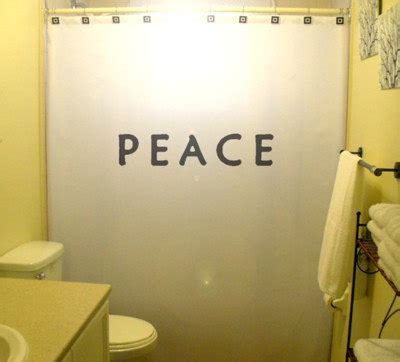 bathroom singer quotes peace shower curtain motivational by customshowercurtains