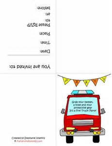 truck invitation template 8 best images of truck birthday printables free