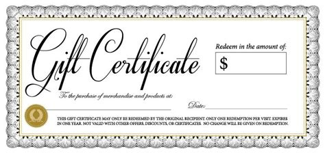 this certificate entitles you to template gift certificate the crossing
