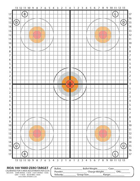 printable zero targets arma dynamics scoped rifle targets
