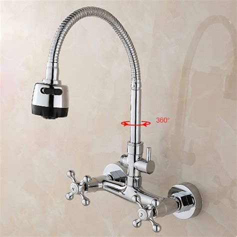 bathroom kitchen faucet cold mixed taps stretchable
