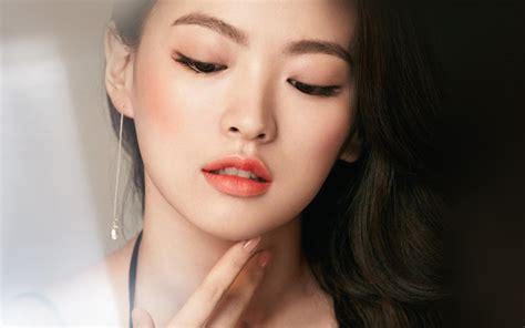 hn asian girl face dark dress wallpaper