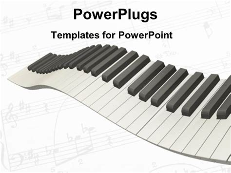 powerpoint template 3d graphics of the keys of a piano on