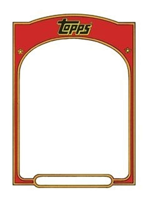free sports card template blank baseball card template
