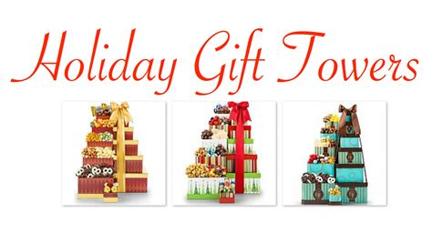 holiday gift towers christmas gift towers