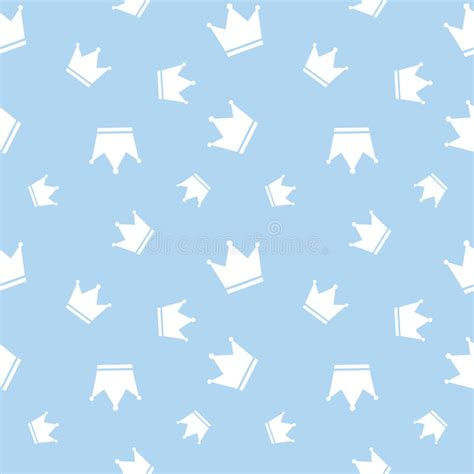 king pattern vector seamless crown background pattern stock vector