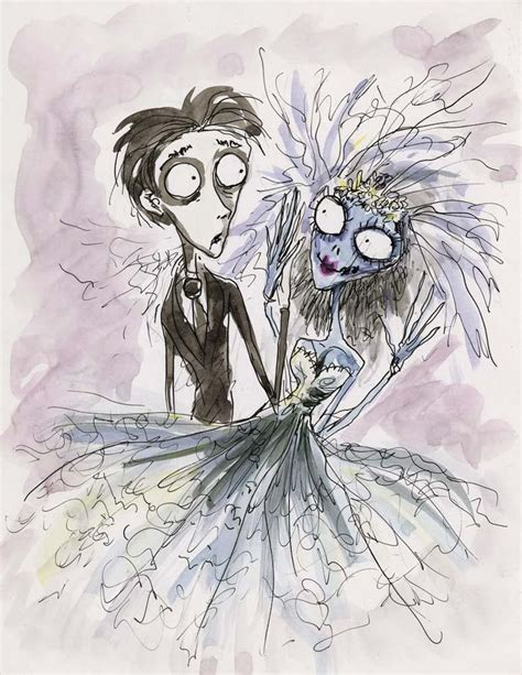 S Drawing Origin by Tim Burton Original Concept Artwork Of Victor And Emily