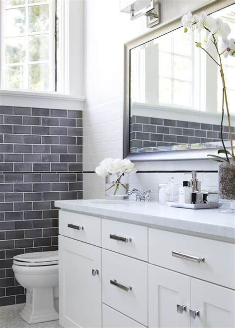 shower with gray subway tiles transitional bathroom matte grey subway tile tile design ideas