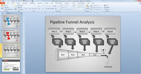 Deal Pipeline Template Free Pipeline Funnel Analysis Powerpoint Template Free Powerpoint Templates Slidehunter Com