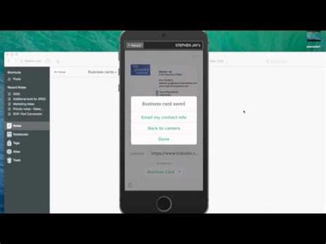 Evernote Business Card Scanner
