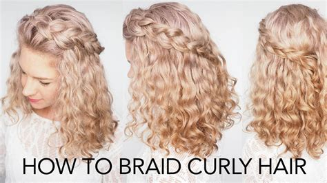 hairstyles for curly hair plaits how to braid curly hair 5 top tips a quick and easy
