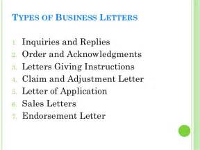 Business Letters Kinds types of business letters images