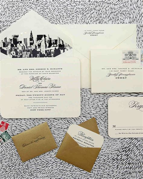 Wedding Invitations Cities by Destination Inspired Wedding Invitations Martha Stewart