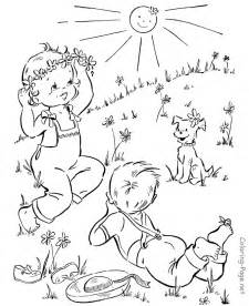 spring coloring pages nature little boys free printable