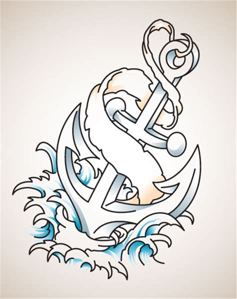 classic anchor tattoo designs auger valve image anchor designs