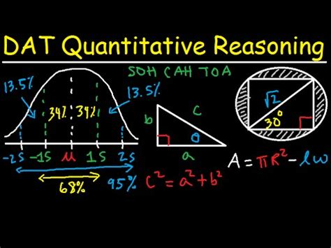 dat math section dat math quantitative reasoning qr study guide review prep