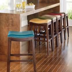 julien leather bar stool grandin road home ideas