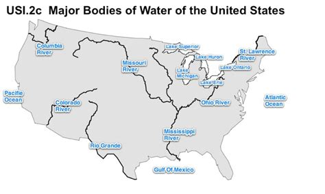 printable map of the united states with bodies of water map of us rivers and great lakes coalition of national
