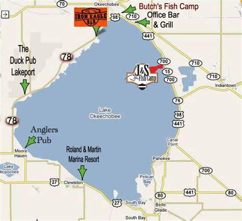 map of lake okeechobee florida biker guide lake okeechobee