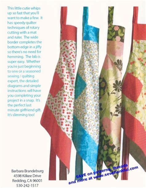 apron jazz pattern apron jazz apron sewing pattern from barbara brandeburg