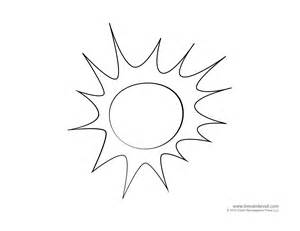 Template Of A Sun by Tim De Vall Comics Printables For