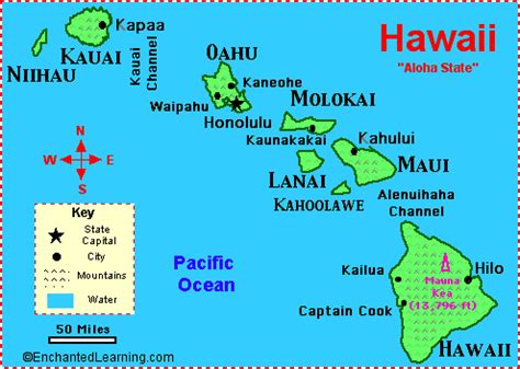 map of hawaii islands capital hawaii map