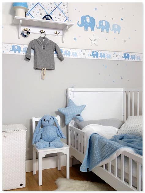 bilder kinderzimmer junge elefanten boys blau grau dinki balloon baby boy