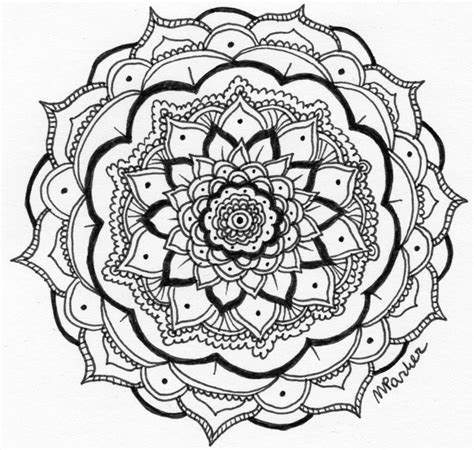 Drawing B W by Freehand Mandala B W By Pencilsandink On Deviantart