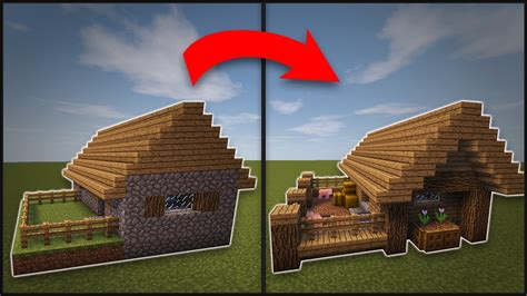How To Find Blueprints Of Your House by Minecraft How To Remodel A Village Butcher S Shop Youtube