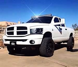Dodge Trucks Lifted Lifted White Dodge Ram Truck Cummin Get It