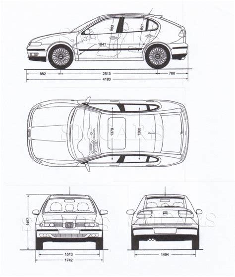 blue print size tutorials3d com blueprints seat leon