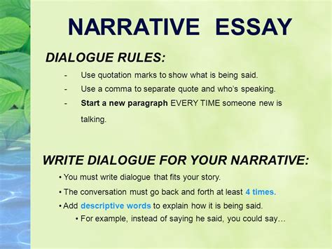 narrative writing what you write says something about you